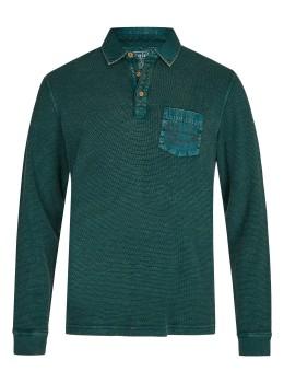 Gewaschenes Polosweatshirt