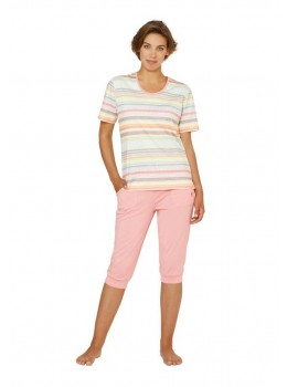Bedruckter Capri-Schlafanzug