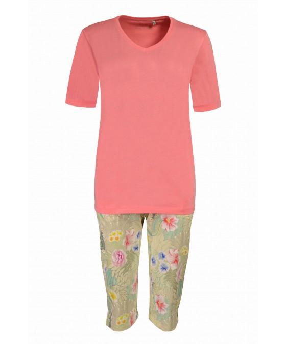 Capri-Schlafanzug mit floralem Druck 45080-312 front
