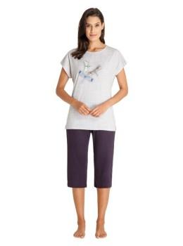 Capri Schlafanzug Stretch