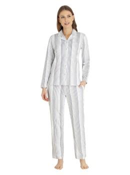 Pyjama Klima-Komfort durchgeknöpft bedruckt