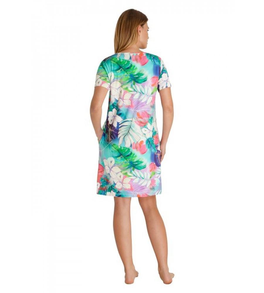 Sommerliches Strandkleid mit Blütendruck 80939-990 back
