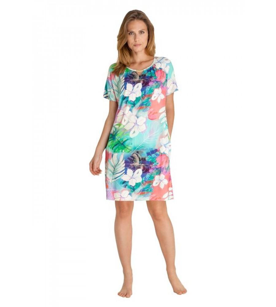 Sommerliches Strandkleid mit Blütendruck 80939-990 front