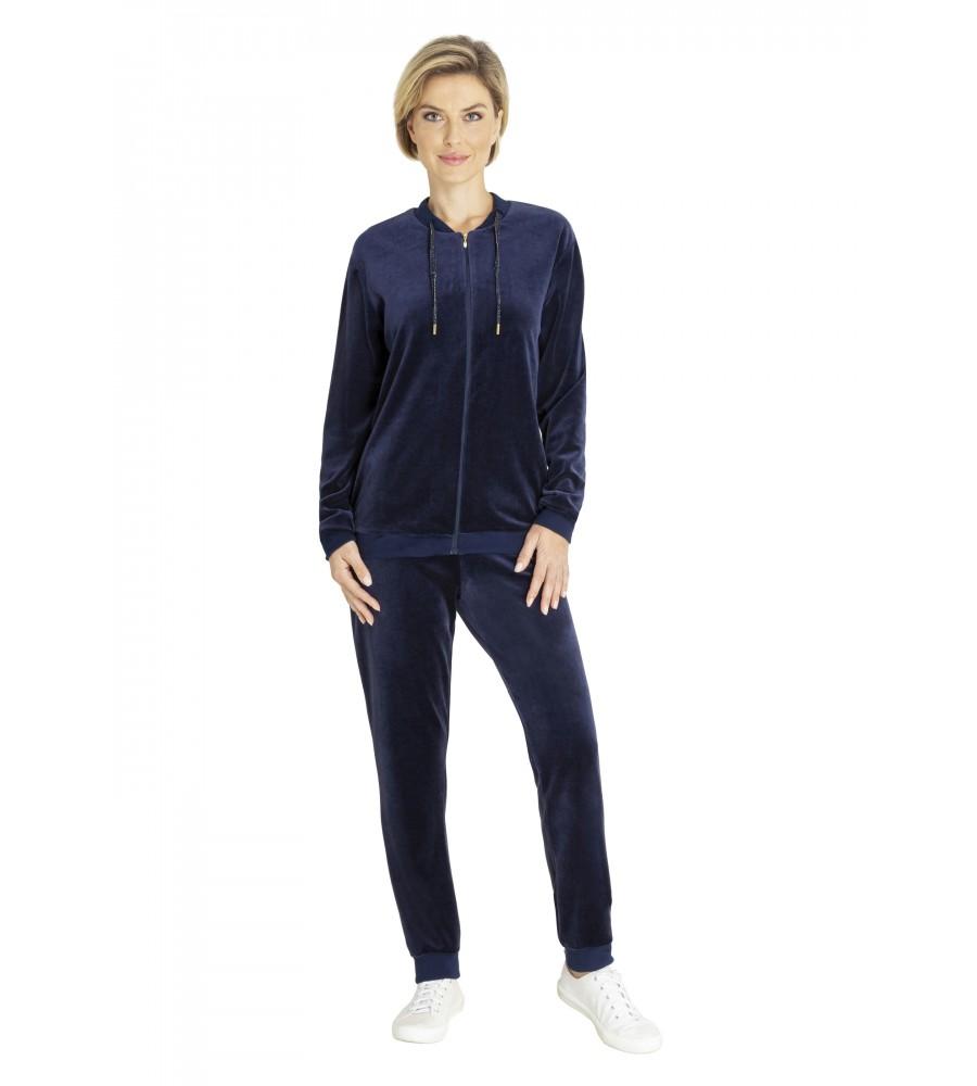Homewear-Anzug Velours-Nicki uni 80989-609 front