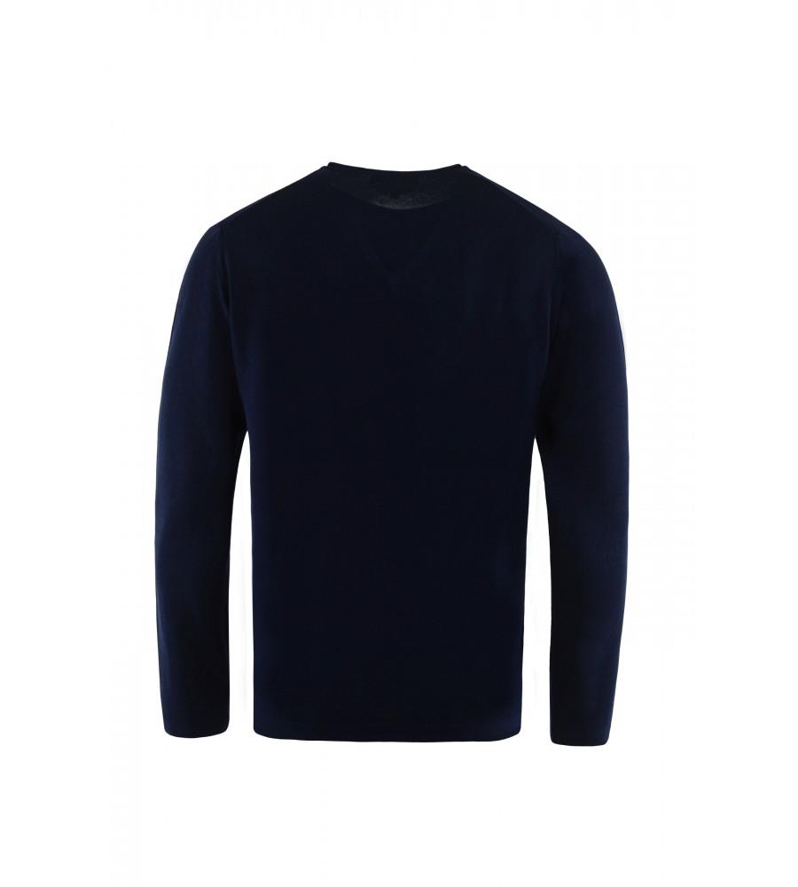 Hochwertiger Pullover mit V-Ausschnitt T1023-672 back